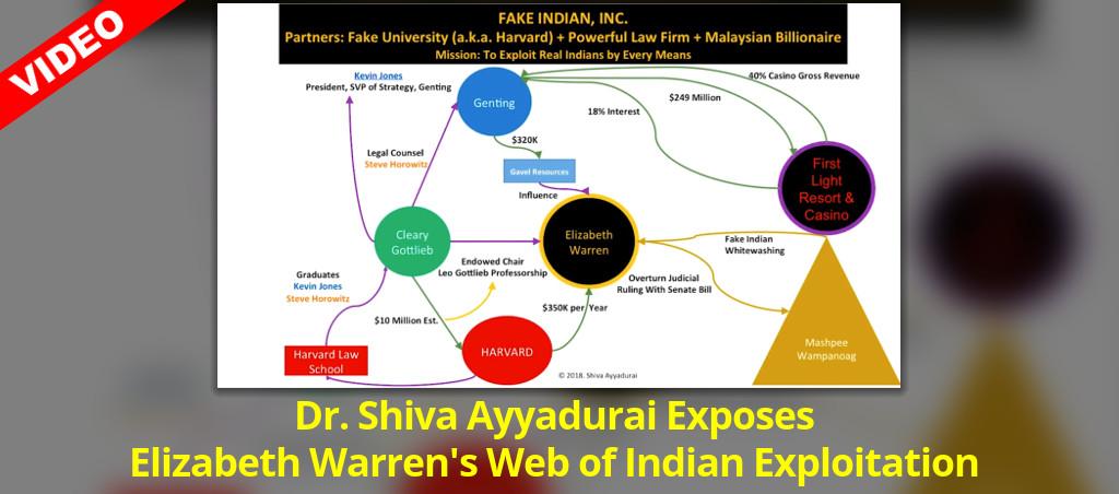 Dr. Shiva Ayyadurai Exposes Elizabeth Warren's Web Of Indian Exploitation