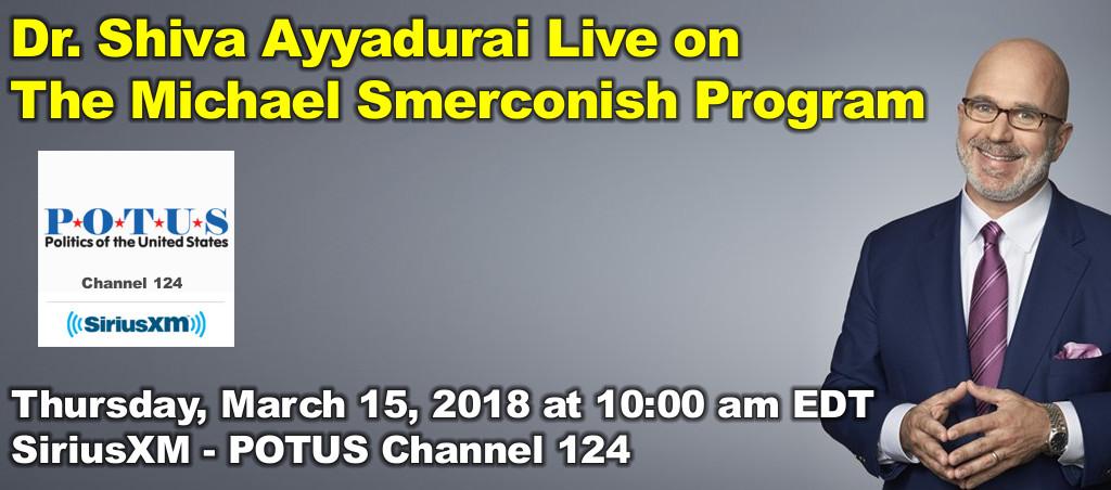 Dr. Shiva Ayyadurai Live On The Michael Smerconish Program