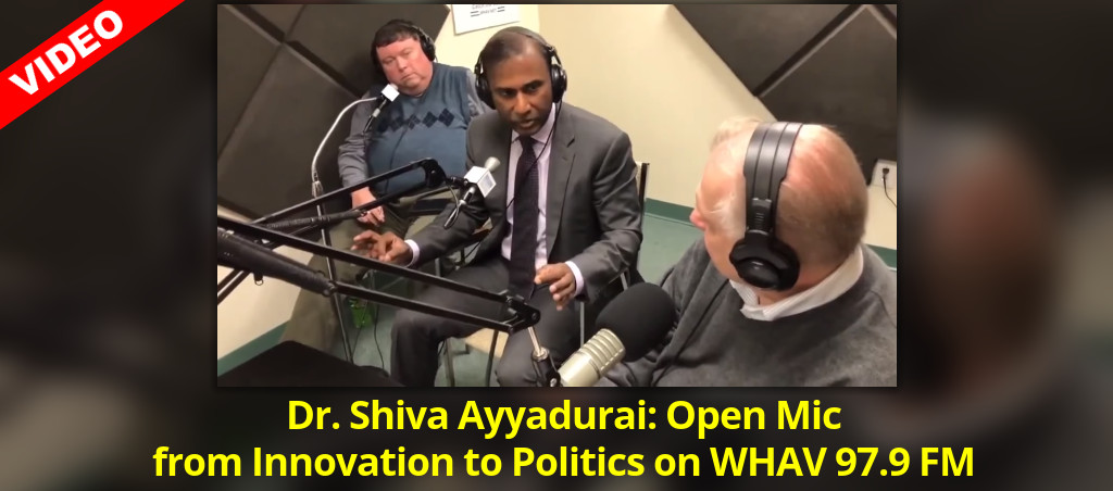 Dr. Shiva Ayyadurai: Open Mic From Innovation To Politics On WHAV 97.9 FM