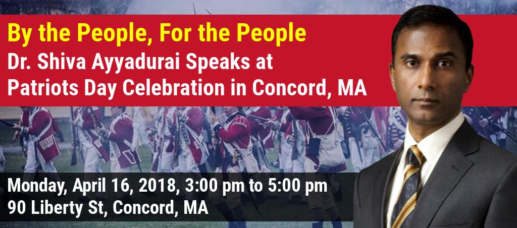Dr. Shiva Ayyadurai Speaks At Patriots Day Celebration In Concord