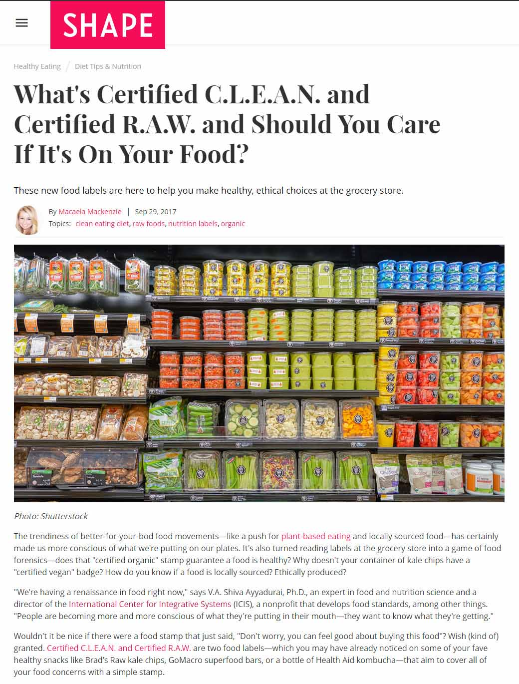 What's Certified C.L.E.A.N. And Certified R.A.W. And Should You Care If It's On Your Food?