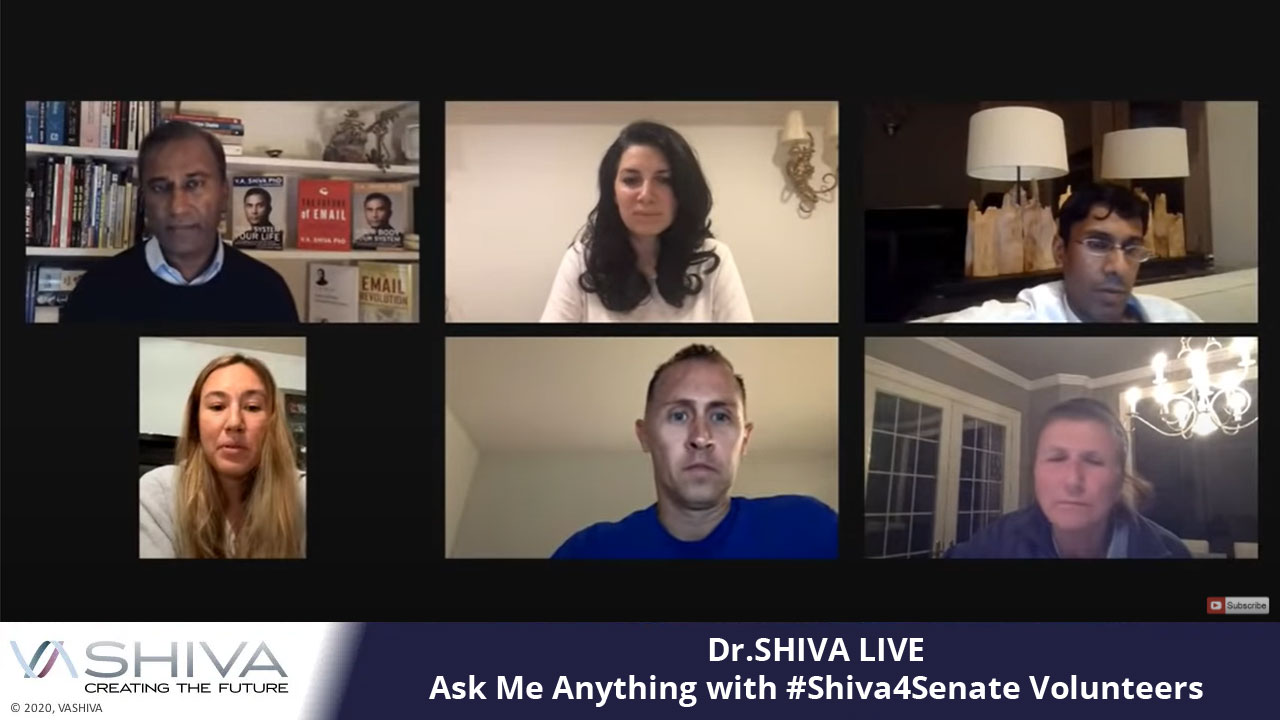 Ask Me Anything With #Shiva4Senate Volunteers