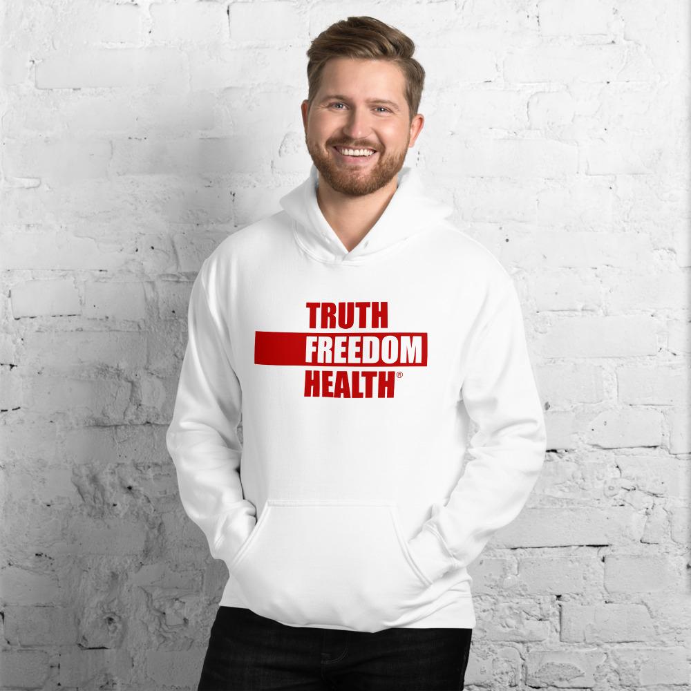 Truth Freedom Health White Unisex Hoodie