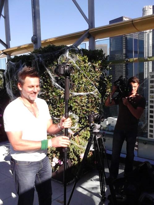 Low budget filmmaking: me and Matt Macar on the job!