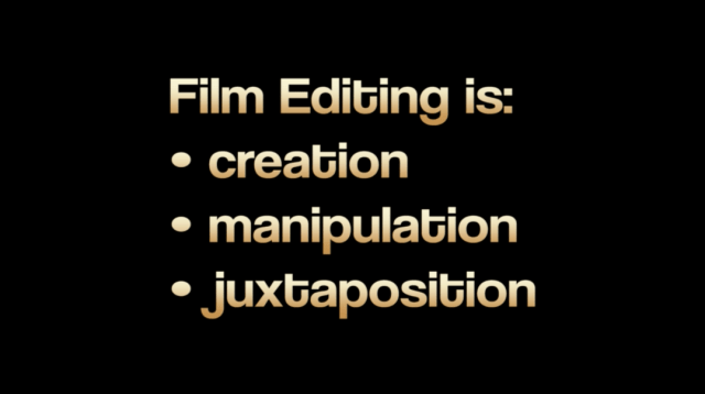 3 components of film editing