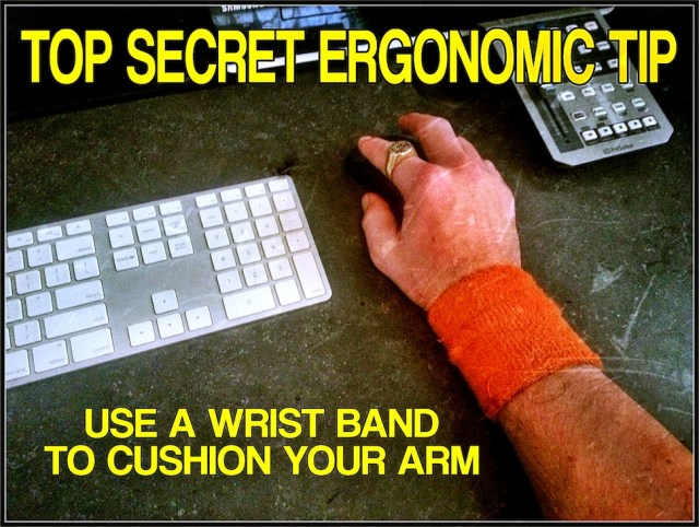 sweat band cushions your wrist