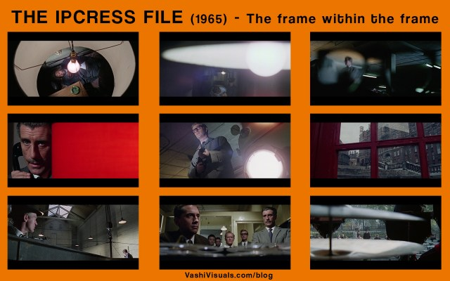 examples of the framing styles in The Ipcress File