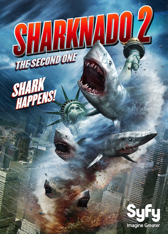 Sharknado 2 invades New York in July 2014