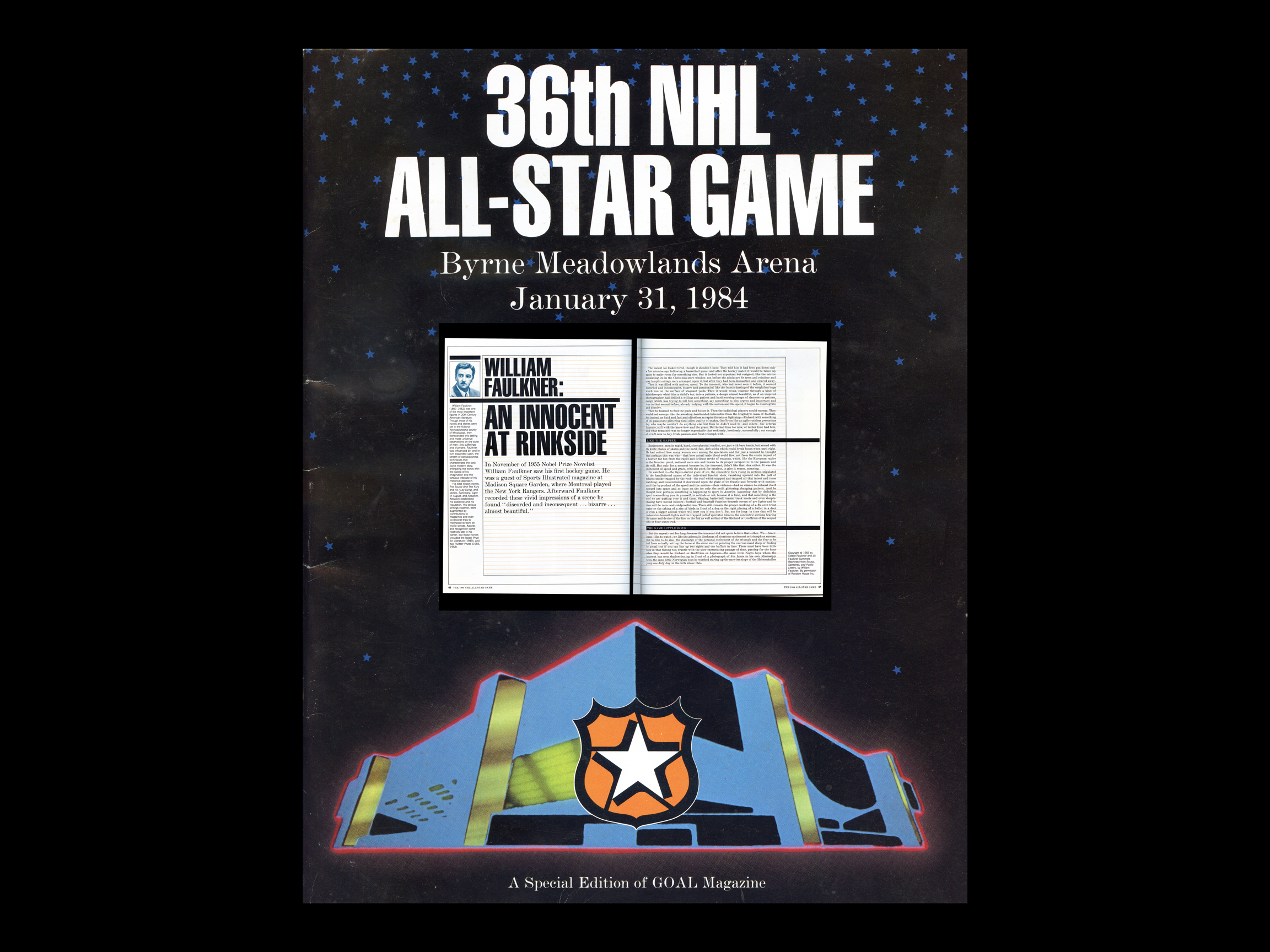 william faulkner essay on ice hockey blog the 36th nhl all star game magazine william faulkner s essay about watching his first