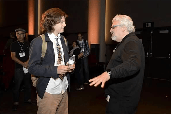 Samson meets Norman Hollyn (Head of USC School of Cinematic Arts)