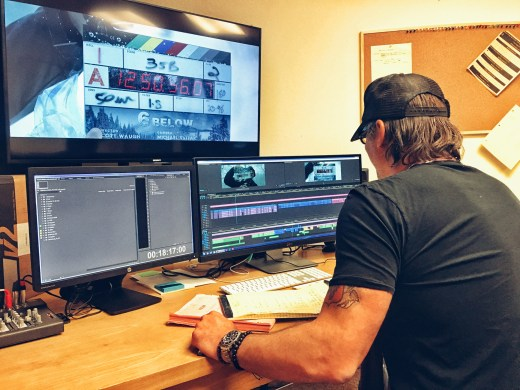 Vashi Nedomansky in the Edit Bay