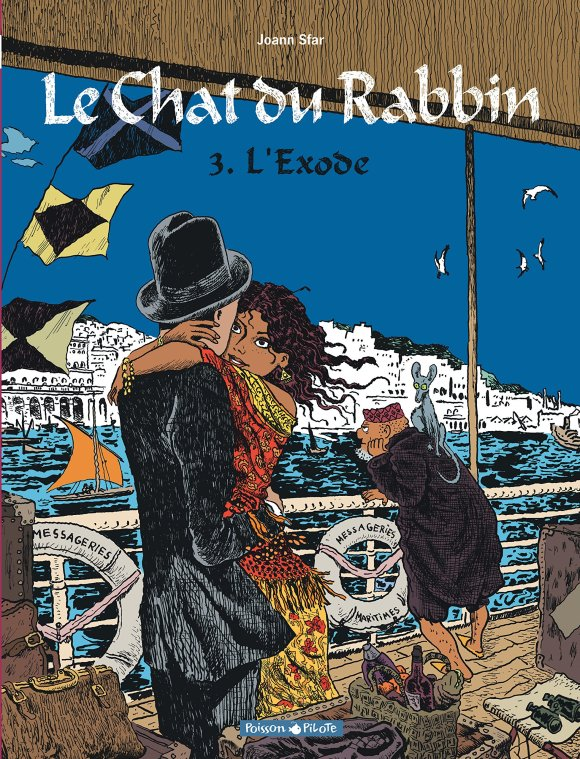 The cover of the third book in The Rabbi's Cat series, 'The Exodus'.