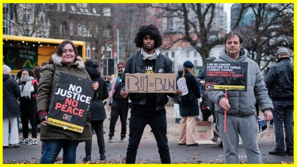 Yuval (Right) pictured at a BLM protest.