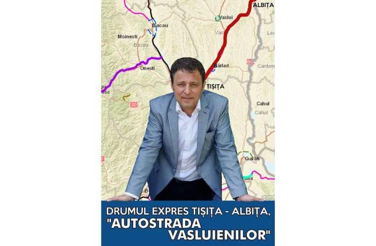"""Deputatul Olteanu, """"părintele autostrăzii Vasluienilor"""", intră oficial în cursa pentru Primăria Bârlad"""