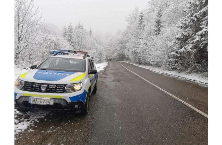 A nins în multe zone din România! Nu plecați la drum fără cauciucuri de iarnă!