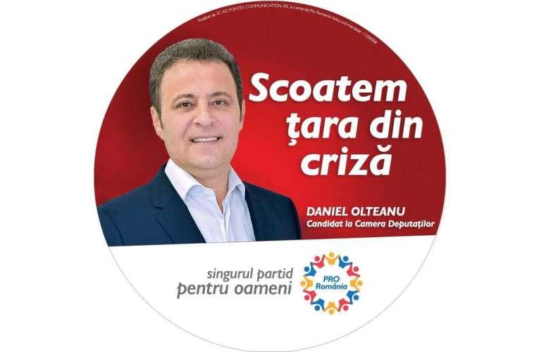 """Daniel Olteanu, locul I la Camera Deputaților, pe listele PRO România: """"Trecem peste criză împreună! Propunem Venit Minim de Criză!"""""""