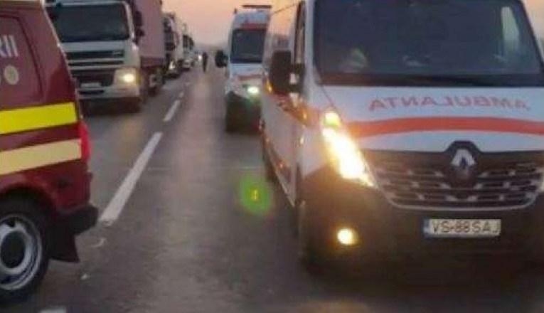 Accident rutier în fața Stațiunii de Cercetări de la Perieni