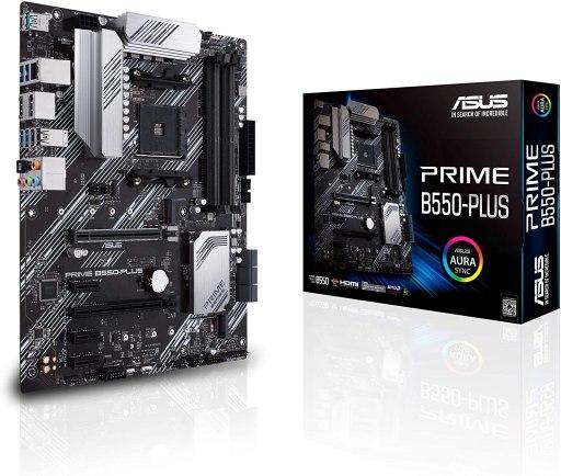 ASUS Prime B550-PLUS AM4 Zen 3 Ryzen 5000 ATX Motherboard