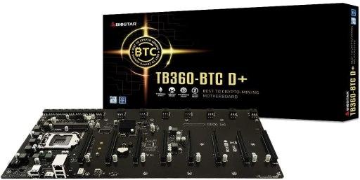 Biostar TB360-BTC D+ SODIMM 8 GPU Support Mining Motherboard