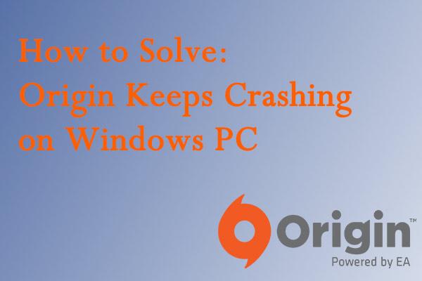 Origin Keeps Crashing