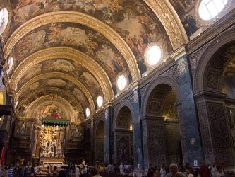 malta cathedral st architecture john valletta wikipedia interior johns maltese jean dramatic buildings history