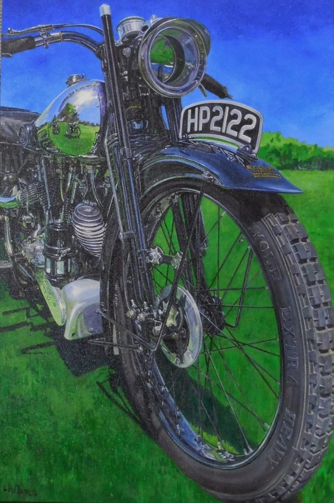 "Lisa Daniels - ""Bike"" Acrylics on Canvas"