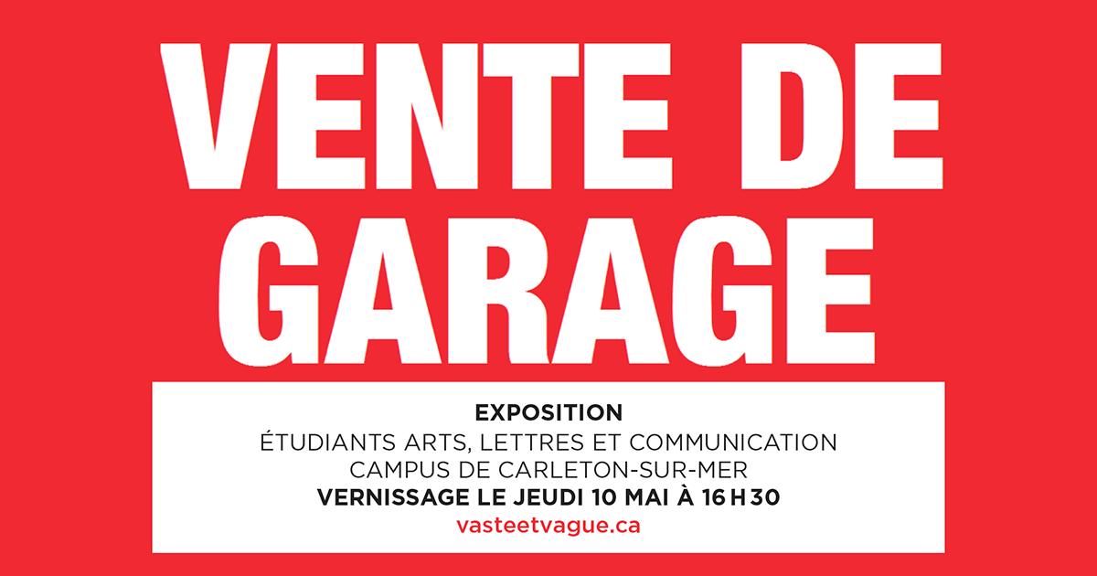 Collectif | Étudiants 2018 Arts, lettres et communication - Campus de Carleton | VENTE DE GARAGE | Exposition