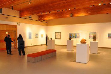 Galerie Colline d'Edmundston Exposition du 50e de la Banque d'œuvre d'art du Nouveau-Brunswick.