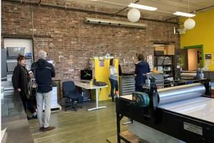 Imago de Moncton, un centre de production voué au développement et à la diffusion de l'estampe et de l'art imprimé. Crédit photo : John Michaud