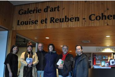 Galerie Louise et Reuben Cohen de l'Université de Moncton | Sur la photo : Nisk Imbault, Louba-Christina Michel, André Lapointe, Nancy Cormier, John Michaud, Yves Gonthier.