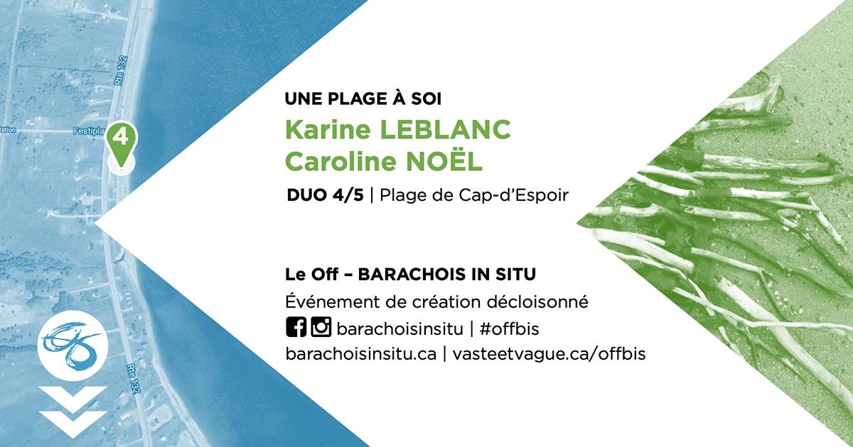 #offbis DUO 4/5 | Plage de Cap-d'Espoir | UNE PLAGE À SOI | Karine LEBLANC et Caroline NOËL