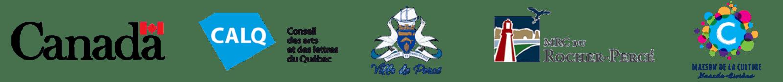 #offbis | Merci à nos partenaires | Patrimoine Canada, CALQ, Ville de Percé, MRC Rocher-Percé, Sainte-Thèrèse-de-Gaspé