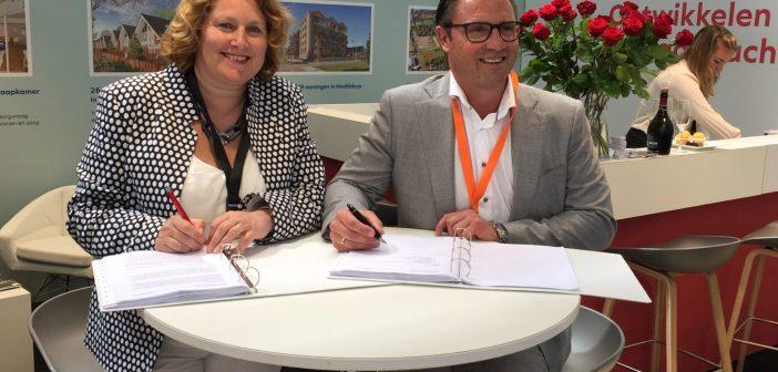 Timpaan en Van Rhijn Bouw tekenen samenwerkingsovereenkomst 130 woningen in Sassenheim