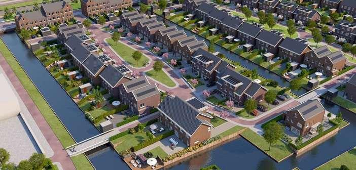 Wethouder Karin Schrederhof geeft startsein bouw laatste fase DelftsHart Gelukkig Slot in Delft