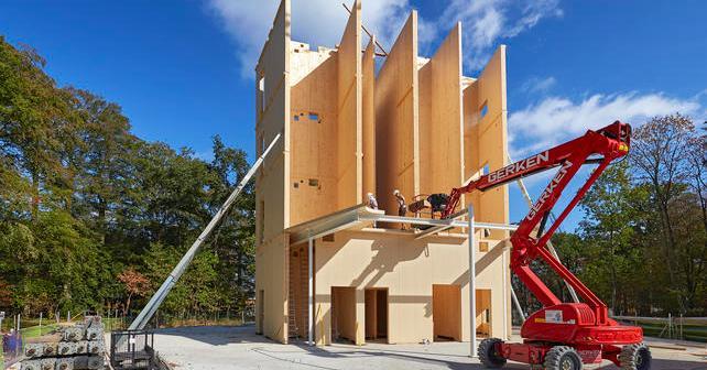 Duurzaam kantoor Triodos Bank gebouwd rond volledig houten kern