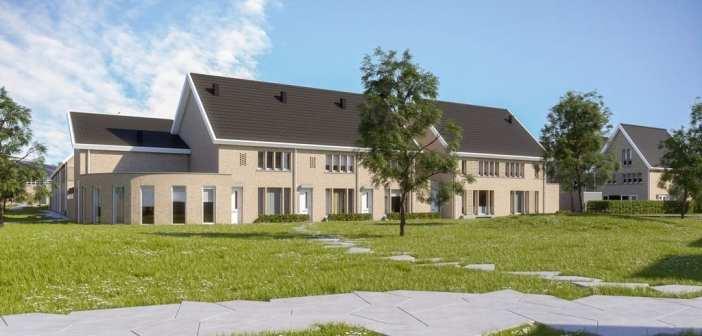 Wethouder Joop van Orsouw geeft startsein bouw 26 woningen Park Zwanenberg in Oss
