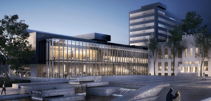 Start bouw stadhuis Tilburg