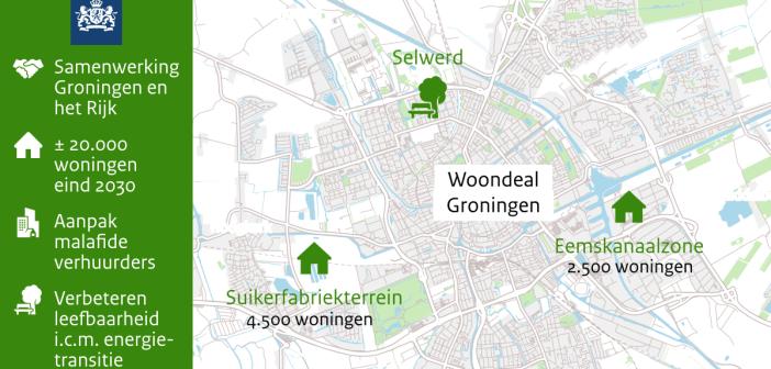 Minister Ollongren en gemeente Groningen sluiten woondeal: snel 20.000 woningen erbij