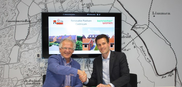 AC Borst Bouw en Kennemer Wonen gaan samenwerking aan voor renovatie Poelven in Castricum