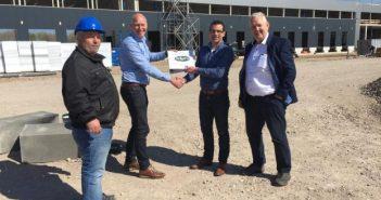 Aan de Stegge Twello start bouw bezorgservice distributiecentrum Sligro Maastricht