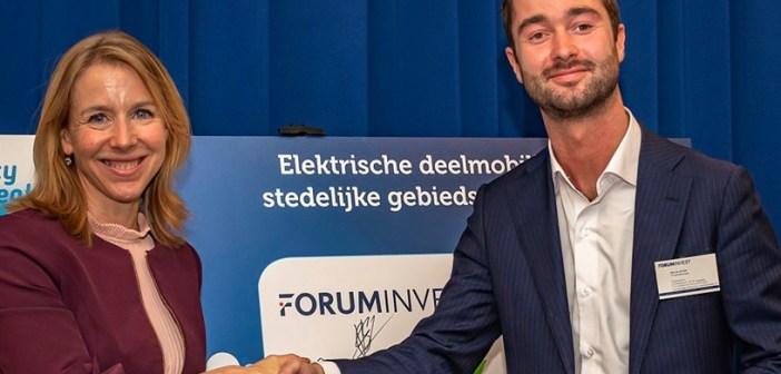 Foruminvest treedt toe tot City Deal Elektrische Deelmobiliteit