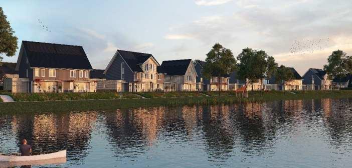 Startsein bouw duurzame woningen Zuiderlei in gebiedsontwikkeling De Groote Wielen, 's-Hertogenbosch