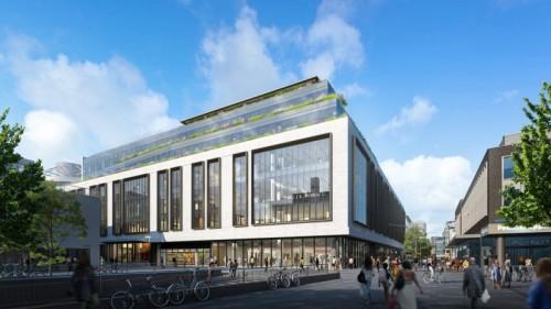 C&A naar gebouw AIR in centrum Rotterdam
