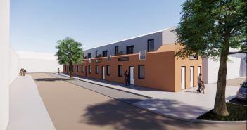 Nieuwbouwplan voor vijf duurzame grondgebonden woningen op voormalige locatie reddingsbrigade in Egmond aan Zee