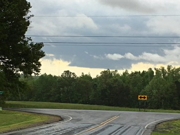 Wall cloud S of Milton NC