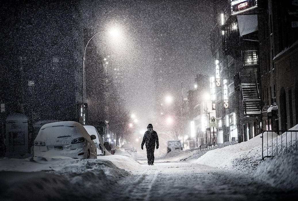 Snow Falling At Night Wallpaper Nature Fine Art Photos High Resolution Large Format