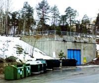 Återvinningsstationen på Kvarnholmsvägen