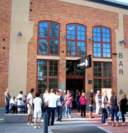 Dieselverkstan i Sickla med bibliotek, biograf, café och restaurang, utställningar etc.