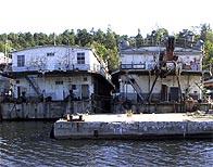 Ryssviken i Nacka före uppresningsningen inför bygget av Marinstaden