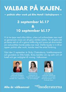 Affisch för moderaternas valbar i Saltsjövarn, valet 2010